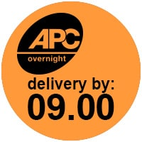 APC overnight delivery by 9 logo