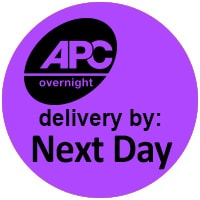 APC overnight delivery by next day logo