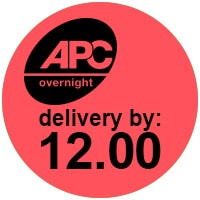 APC overnight delivery before 12 logo