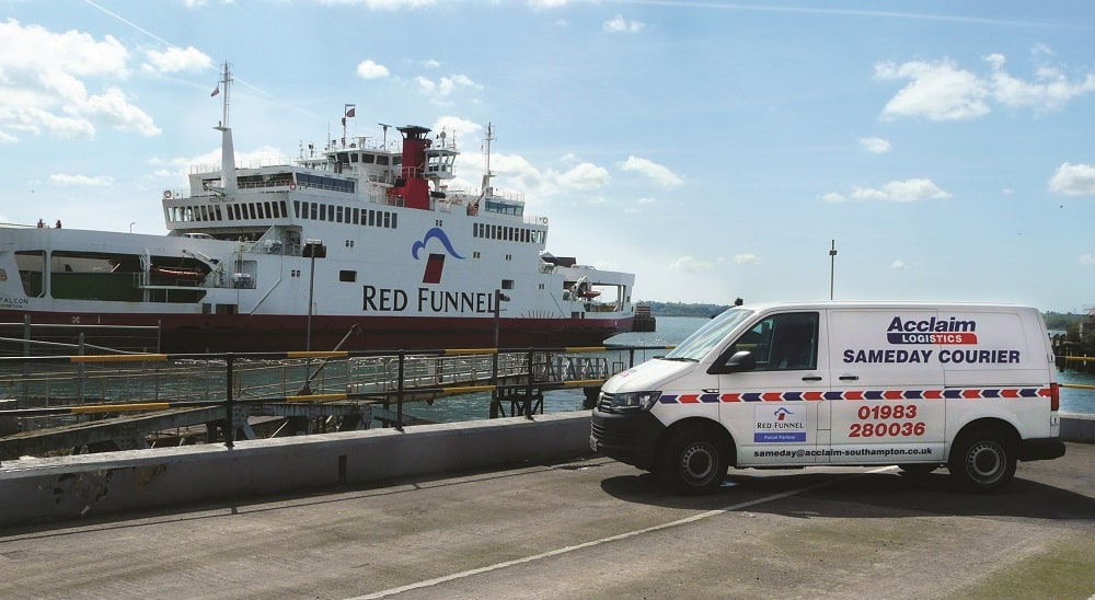 Acclaim van and Red Funnel Ferry