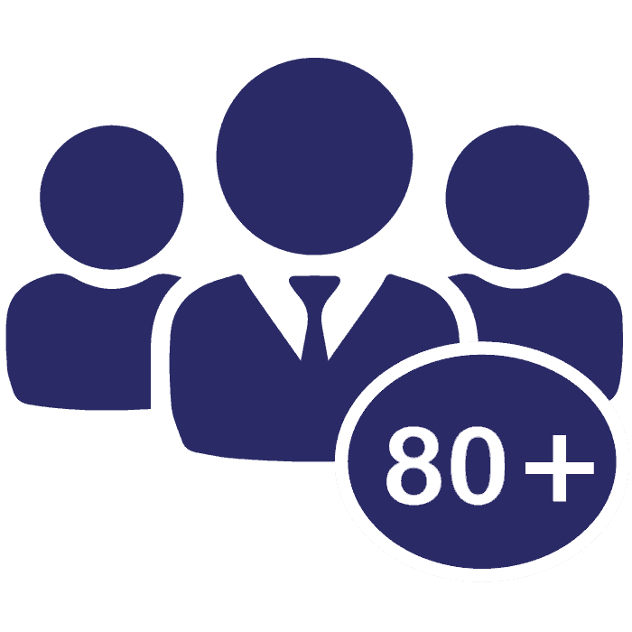80 employees